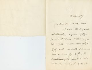 Autographed Signed Letter (ASL) of Stanley Leighton. Stanley LEIGHTON