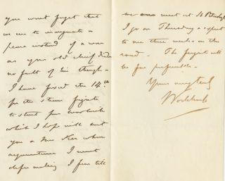 Autographed Signed Letter (ASL) of John Wodehouse, 1st Earl of Kimberley