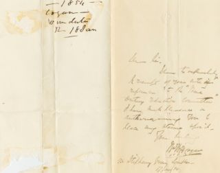 Autographed Signed Letter (ASL) of William Henry Ford Cogan. William Henry Ford COGAN
