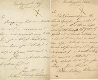 Two Autographed Signed Letters (ASL) of Arthur Wellesley Williams. Arthur Wellesley WILLIAMS.