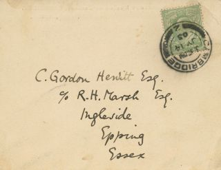 Inscribed signed postcard S.F. (Sidney Frederic) Harmer