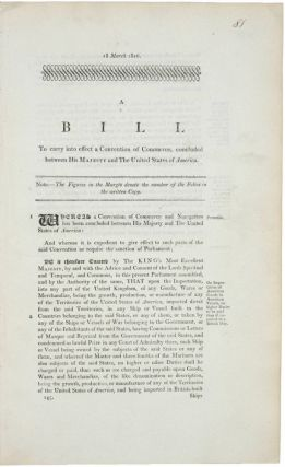 A collection of three rare and important 1816 British War of 1812 legal documents (a bill and two...