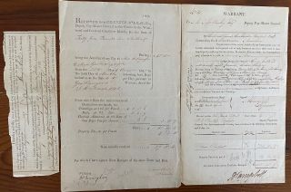 Three printed and signed documents two regarding British forces in the Windward and Leeward...