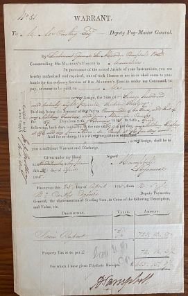 Three printed and signed documents two regarding British forces in the Windward and Leeward Charibbee (Caribbean) islands 1808, & 1817 and One in 1815, Mauritius, East Africa