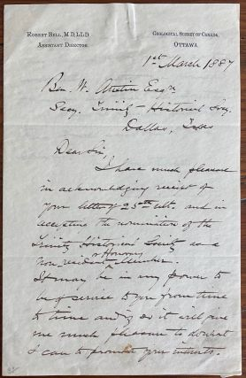 Robert Bell holograph letter to Ben. W. Austin in Dallas Texas regarding honorary membership in...