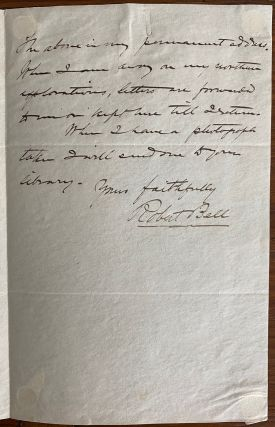 Robert Bell holograph letter to Ben. W. Austin in Dallas Texas regarding honorary membership in Trinity Historical Society