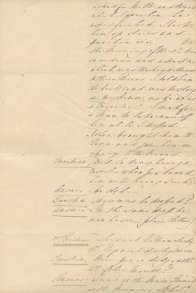 Proceedings of a General Court Martial held by Order of his Excellency Lieutenant General Sir James Kempt [...] Commander [etc] Quebec 9th December 1828.