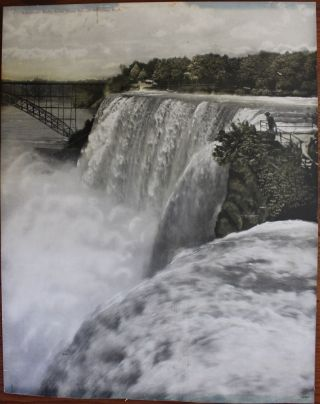 Two Niagara Falls prints - American Falls from Goat Island and Horseshoe Falls from Goat Island....