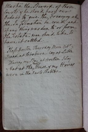 John Thomas Batt, executorship diary from May 18, 1771 to October 3, 1771 regarding George Montagu-Dunk, 2nd Earl of Halifax