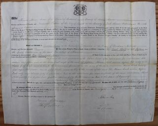 Canada Company Land Grant to William Eyres of the Township of Manvers in the County of Durham...