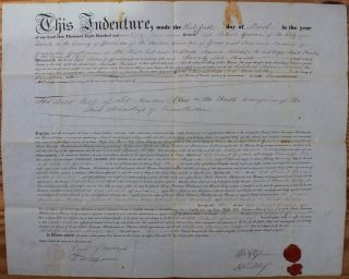 Indenture for the sale of land in the Township of Enniskillen in the County of Lampton from Ogle...