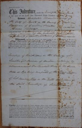 Indenture for the sale of land in the Township of Enniskillen in the County of Lampton from A.A....