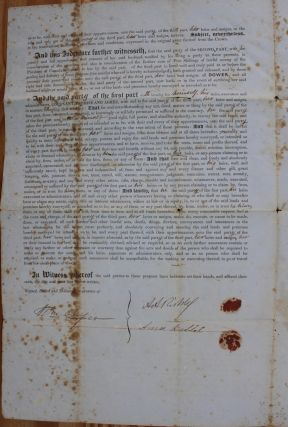 Indenture for the sale of land in the Township of Enniskillen in the County of Lampton from A.A. Riddell to Margaret McGregor wife of John Morrison (June 12, 1854)