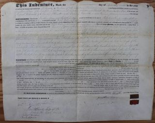 Indenture for the sale of land in the Township of Zorra, County of Oxford, District of London...