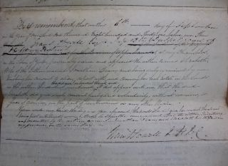 Indenture for the sale of land in the Township of Zorra, County of Oxford, District of London from Jonathan and Elizabeth Dean to Robert Williams (September 6, 1831)