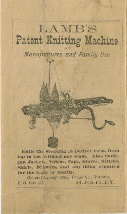 Lamb's Patent Knitting Machine for Manufacturers and Family use. Lamb Knitting Machine...