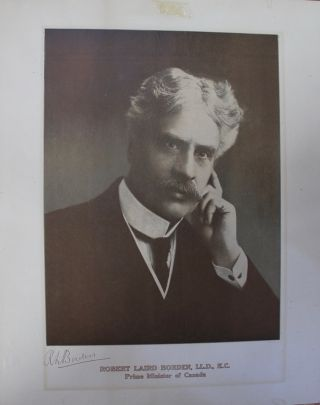 Robert Laird Borden, L.L.D., K.C. Prime Minister of Canada portrait print. Sir Robert Laird BORDEN