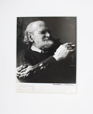 Silver gelatin portrait photograph of Basil Bunting by Jonathan Williams. Basil BUNTING, Jonathan...