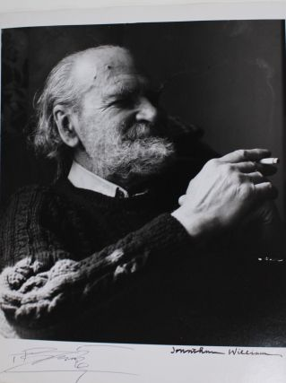 Silver gelatin portrait photograph of Basil Bunting by Jonathan Williams