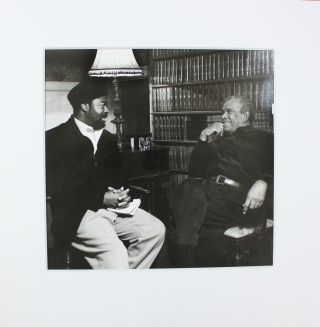 Large silver gelatin photograph of Derek Walcott and Ben Okri by Lucinda Douglas-Menzies. Sir...