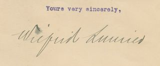 "Wilfrid Laurier ""in office"" 1910 typed letter signed"