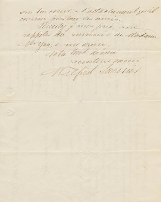 Sir Wilfrid Laurier Letter signed