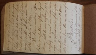 Standing Orders in Annapolis Royal Manuscript Diary [British Army in Canada]