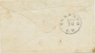 Stampless cover to Hon. Joseph Couchon