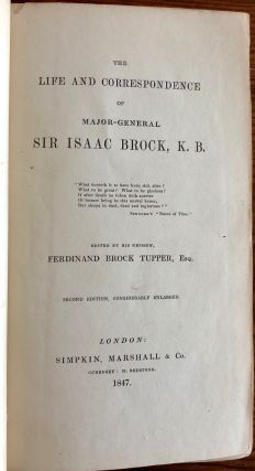 The Life and Correspondence of Major General Sir Isaac Brock