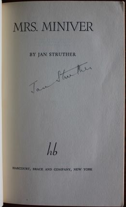 Jan Struther (Joyce Anstruther) collection