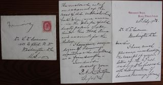 Peter Adolphus McIntyre holograph letter on Government House Prince Edward Island stationary....