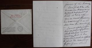 Peter Adolphus McIntyre holograph letter on Government House Prince Edward Island stationary