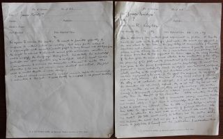 "Robert Leighton unpublished typescript novel ""Sir James Bridges"" collection"