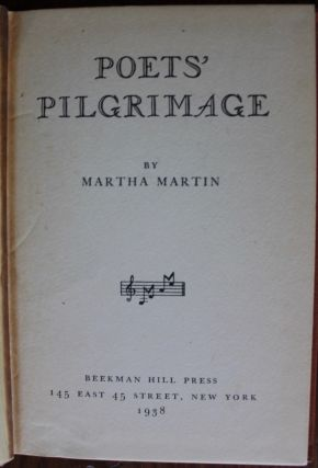 Martha Martin poetry collection