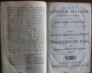 Directions for the Latine tongue ; bound with Janua lingu italic brevissima