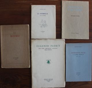Eugenio Florit 5 early first editions from 1933 to 1955 signed Spanish books collection. Eugenio FLORIT, H. R. HAYS, Hoffman Reynolds, provenance.