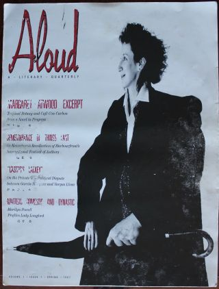 ALOUD - A Literary Quarterly- Volume 1, Issue 1, Spring 1987 [layout mock-up]. Margaret ...