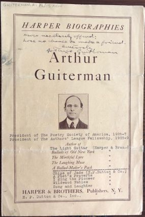 Arthur Guiterman collection