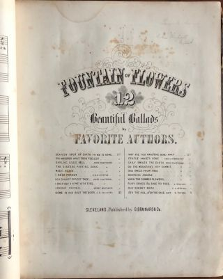 Album of American sheet music and patriotic ephemera