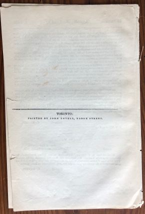 Appendix (No. 7 and 8) RETURN: To an address from the Legislature Assembly to His Excellency The Governor General, dated the 19th ... county of Grey and Bruce...
