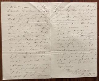 Hugh Watt, Meaford Monitor publisher, two holograph letters