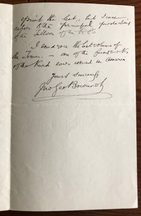 Letter from Bourinot to Hopkins regarding Royal Society of Canada (RSC) new edition