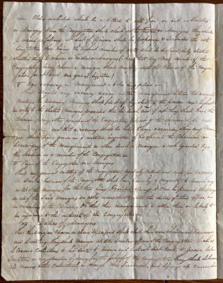 Draft of Church Constitution letter [Missionary Synod of the United Secession Church in Upper Canada]