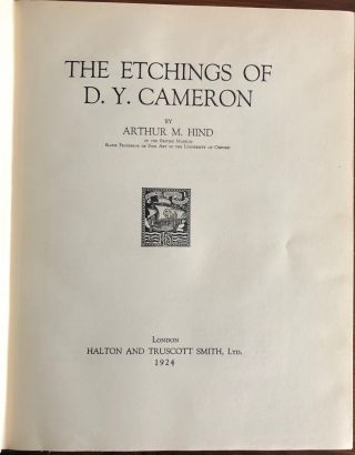 The Etchings of D. Y. Cameron