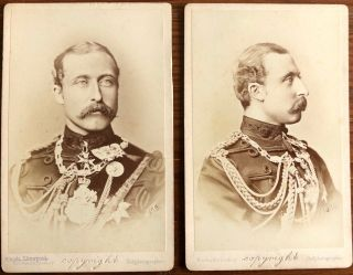Two CDV's of Prince Arthur, 1st Duke of Connaught and Strathearn and Field Marshal. Prince...