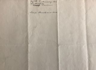 Typed Letter Wilfrid Laurier signed on House of Commons letterhead, February 25th, 1914, to lawyers of 2nd Lady Strathcona
