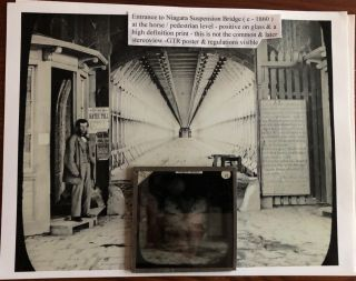 Early Niagara Falls Suspension & Clifton Suspension Bridge Archive / Collection