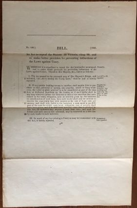 Bill. An Act to repeal the Statute 16 Victoria, chap. 80, and to make better provision for...