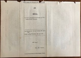 Bill. An Act to incorporate the Guelph and Wellington Roads Company