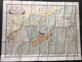 Map No. 1 (Eastern-Section) Dominion of Canada Telegraph & Signal Service. Sir Hector Langevin...